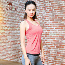 Camel 2019 sports vest fitness yoga clothing fashion solid color shirt moisture wicking sportswear fitness clothing