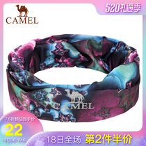 CAMEL Camel outdoor men and women universal headdress soft skin breathable micro-elastic sports running multi-purpose headdress