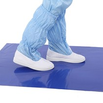 Sticky sticky pad in addition to shoes foot dust foot dust pad home clean room door anti-static blue tear type