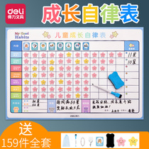 Croissance efficace de lenfant autodiscipline table semaine plan table mural stickers children reward home magnetic card table award penalty rest time children Primary School students to study life good habits behavior table board