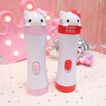 Childrens flashlight charging cartoon princess girl durable decorative lights outdoor light-emitting toys emergency candy color.