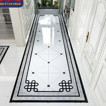 2020 new Chinese living room parquet tile corridor floor tiles entrance gate throwing bricks 0 8 meters aisle tiles