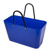 Kitchen supplies household big whole cleaning new convenient hand-held dishes blue shopping handbag soft plastic lift.