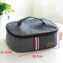 Wind large rectangular lunch box bag portable oxford cloth insulation flat lunch bag students with rice bags
