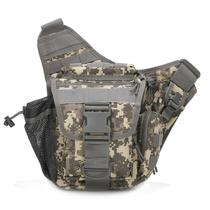 Outdoor Army fan Saddle Bag tactical shoulder bag camouflage Messenger chest bag photography bag anti-satchel size super saddle bag