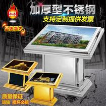 Hotel lobby guide desk floor mall index card floor plan Hospital guide table stainless steel light box