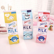 (Buy two free 4 only neutral pen)snack small pen bag female students pencil case stationery bag milk box pencil case