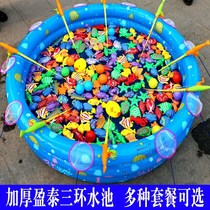 Tools toys home childrens fishing pond playground full outdoor round stall storage barrels multi-purpose fishing fish