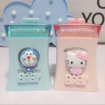 Creative girl heart cartoon toothpick box automatic high-end household cotton swab box storage box cute cotton stick box.