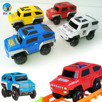 Toma electric track small train toy track dedicated car childrens bus track police car race.