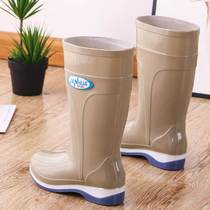 Short tube womens rain boots womens adult fashion rain boots rainy day wear water shoes non-slip water shoes