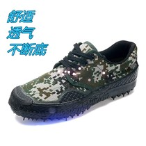 Spring and Autumn soft bottom low help camouflage shoes male and female military shoes deodorant wear-resistant liberation shoes for training shoes Labor canvas Shoes