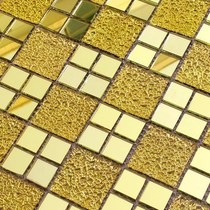Self-adhesive waterproof seamless Rose Gold Pool brick pattern store decoration metal decorative mosaic mosaic