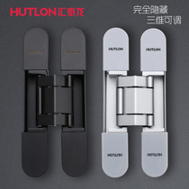 HuiTailong folding door cross hinge hidden stealth door heypage flagship store wooden door dark door page 3D adjustable