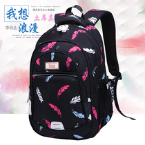 Schoolbag female shoulder bag female 2019 new Korean version of the tide wild fashion campus Junior High School students travel backpack