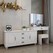 Bedroom dresser simple modern small family mini make-up table multi-function dresser European telescopic dresser.