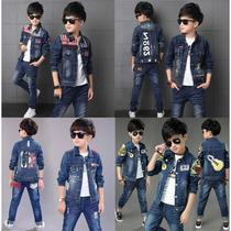 Mens suit 2018 New childrens long-sleeved jacket casual pants Big Boy little boy student two-piece suit