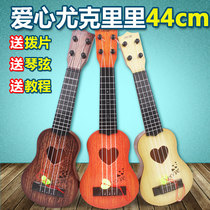 Childrens small guitar it toys can play simulation m ukulele beginner instrument piano music to send paddles