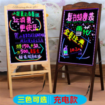 Charging fluorescent panel LED handwritten light-emitting advertising screen electronic billboard display sign situ writing small blackboard