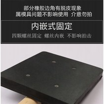 South Korea black wooden handle rubber Clapper tile installation hammer square flat rubber hammer rubber hammer beat