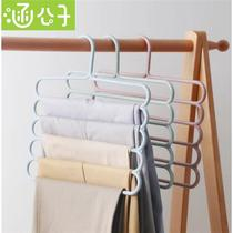 Han Prince multi-function non-slip multi-layer pants rack home wardrobe hanging pants hanger pants clip storage pants hanging shelf