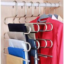 Multi-function magic pants clip home s-type multi-layer pants rack pants hanger wardrobe storage pants hanging shelf pants folder