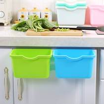 New kitchen hanging trash cabinet door convenient hanging trash hanging box desktop mini small income