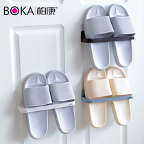 Free punch bathroom slippers rack toilet racks dormitory shoes storage artifact wall hanging small shoe rack shoe care