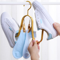 2 Sun shoes shelf balcony hanging shoe rack multi-purpose household dry shoes God dry shoes rack indoor zinc alloy hook