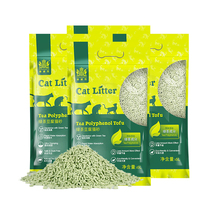 Nai Wick green tea flavor dust-free deodorant food grade tofu cat litter 6L*4 bags of large packaging 24L pet supplies