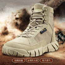 Spring and autumn outdoor military boots men and women special forces ultra-light waterproof desert boots tactical boots hiking high mountaineering shoes non-slip