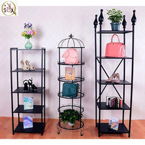 Coat rack hat display rack bedroom living room hallway multi-storey shelf window bag shoe rack display shelf