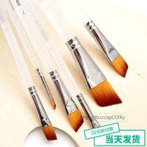 Cakken nylon Mao oblique peak brush single propylene water chalk oil painting pen 1#3#5#7#9#11#