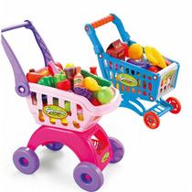 Childrens family cut fruit toys cut Tesco cart girl trolley supermarket cart CART toys