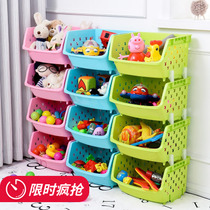 Home put the shelf capacity of toys racks to increase the multi-storey economy creative cartoon classification living room storage