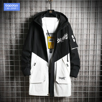 2019网红中 长 款 时尚 外套 外套 外套 冬 韩 Korean version of the trend mens windbreaker autumn and winter frock in the long section of the coat
