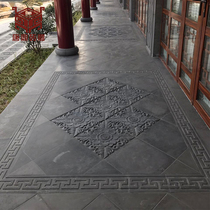 Tangding Brick carving chinese antique green brick courtyard tile town old Green brick pattern brick anti-skid floor tile QD051