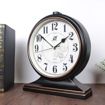 European-style retro clock desk clock living room American large desktop clock pendulum clock desktop Home clock clock ornaments