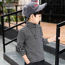 Small elephant Hamm childrens clothing boys high collar bottoming shirt childrens winter T-shirt with a striped autumn and winter 2018 New