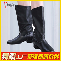 Dan Shige full leather national dance shoes male Mongolia dance shoes gaotou horse boots show Tibetan boots Xinjiang boots