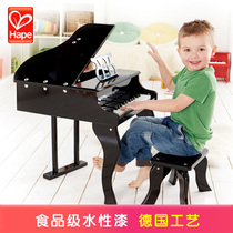 hape flagship store piano 30 key wooden machinery mini piano can play music children enlightenment early childhood education