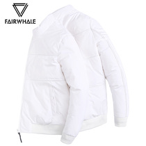 Waffey Duvet Mens short 2018 new Winter white vertical collar casual thickened down jacket coat