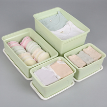 Storage box plastic clothes storage box snack toy finishing box has cover storage box clearance three-piece set