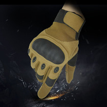 Thieves WZJP cross-border outdoor sports mountaineering tactics army fans anti-slip combat black shell touch screen full finger gloves.