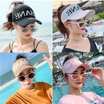 Duck cap sun shade hat hat womens summer sun hat new empty top cap Korean version knitted net eye baseball cap