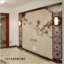 PVC hollow carved new Chinese TV background wall flower grid film WALL through the ceiling cut off the porch antique