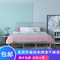 Fashion European iron bed Environmental Protection iron frame bed princess bed 1 2 m dormitory bed 1 5 M 1 8 m double bed