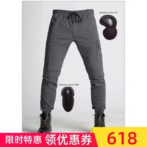 Riding jeans motorcycle male elastic four seasons shatter-resistant leisure slim Harley fan car retro summer female