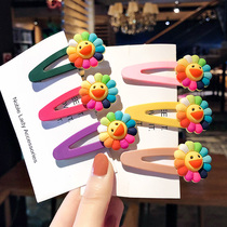 Sun flower hairpin female Korean Network red clip headdress cute side clip ins girl super fairy hair accessories simple clip