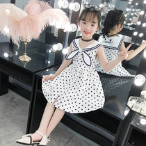 Girls skirt summer thin section foreign style 10-year-old cloth skirt 2019 New Girl in the Big Boy dress no